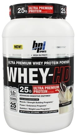 DROPPED: BPI Sports - Whey-HD Ultra Premium Whey Protein Powder Milk & Cookies - 2.31 lbs.