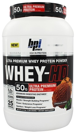 DROPPED: BPI Sports - Whey-HD Ultra Premium Whey Protein Powder Chocolate Cookie - 2.31 lbs.