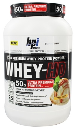 DROPPED: BPI Sports - Whey-HD Ultra Premium Whey Protein Powder Vanilla Caramel - 2.31 lbs.