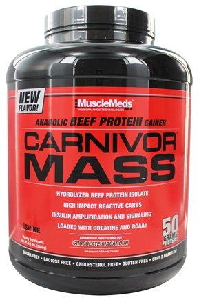 DROPPED: MuscleMeds - Carnivor Mass Anabolic Beef Protein Gainer Chocolate Macaroon - 5.8 lbs.