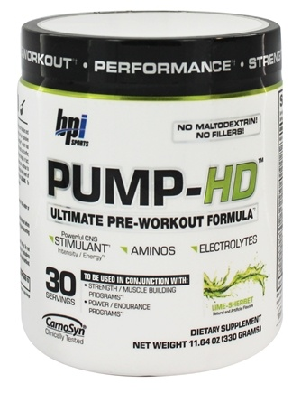 DROPPED: BPI Sports - Pump-HD Ultimate Pre-Workout Formula Lime-Sherbet 30 Servings - 11.64 oz.