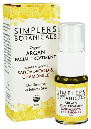 DROPPED: Simplers Botanicals - Organic Argan Facial Treatment Sandalwood & Chamomile - 15 ml.