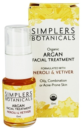 DROPPED: Simplers Botanicals - Organic Argan Facial Treatment Neroli & Vetiver - 15 ml.