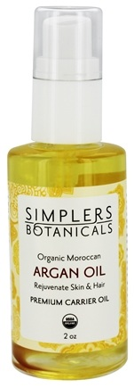 DROPPED: Simplers Botanicals - Premium Carrier Oil Organic Moroccan Argan - 2 oz.