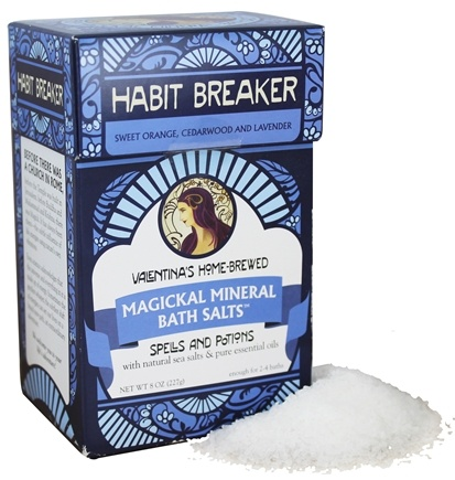 DROPPED: Valentina's Home Brewed - Magickal Mineral Bath Salts Habit Breaker - 8 oz.