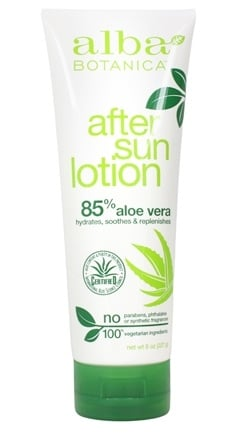 Alba Botanica - Very Emollient After Sun 85% Aloe Vera Lotion - 8 oz.