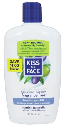 DROPPED: Kiss My Face - Hand Soap Refill Fragrance-Free - 17.5 oz.