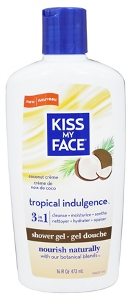 Kiss My Face - Shower Gel 3 In 1 Tropical Indulgence Coconut Creme - 16 oz.
