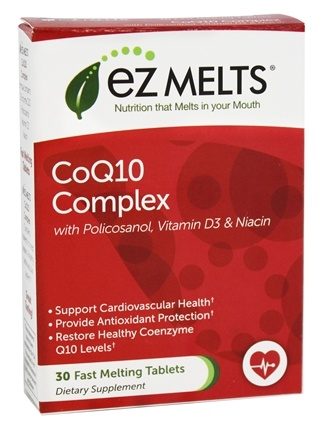DROPPED: EZ Melts - CoQ10 Complex Orange Flavor - 30 Tablets