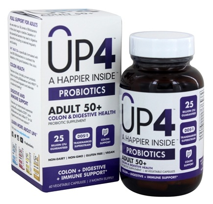 UP4 - Probiotics Senior Probiotic Supplement with DDS-1 - 60 Vegetarian Capsules
