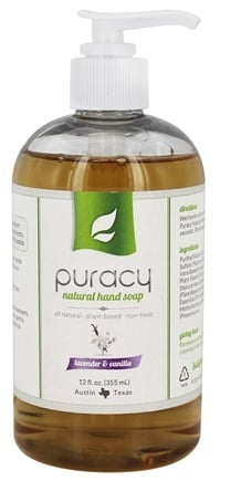 DROPPED: Puracy - All Natural Hand Soap Lavender & Vanilla - 12 oz.