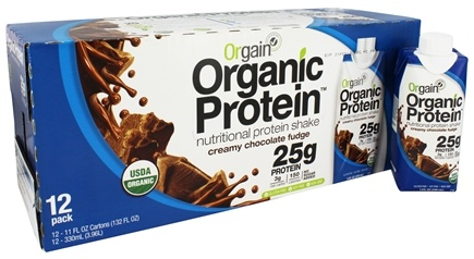 Orgain - Organic Ready To Drink High Protein Shake Creamy Chocolate Fudge - 12 Pack LUCKY PRICE