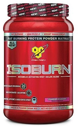 DROPPED: BSN - IsoBurn Metabolic Activating Whey Isolate Blend Strawberry Milkshake - 1.32 lb.