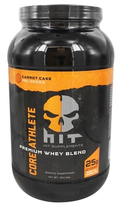HIT Supplements - Core Athlete Premium Whey Protein Blend Carrot Cake - 904.29 Grams