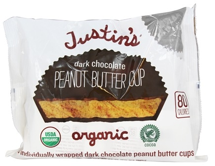 DROPPED: Justin's Nut Butter - Peanut Butter Cups Dark Chocolate - 5 oz.