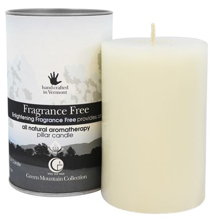 "Way Out Wax - Pillar Candle Fragrance Free - 2.75"" x 4"""