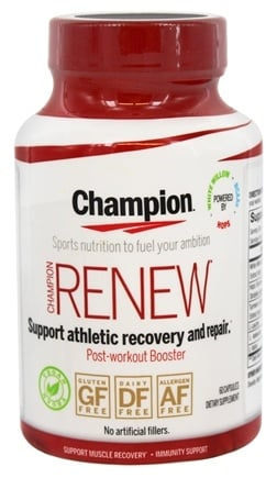 DROPPED: Champion Naturals - Renew Post-Workout Booster - 60 Vegetarian Capsules