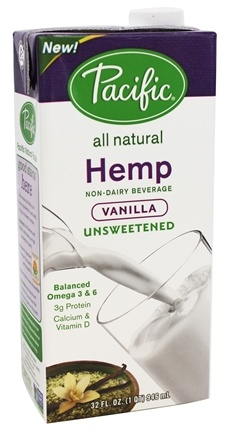 Pacific Natural Foods - All Natural Hemp Milk Unsweetened Vanilla - 32 oz.