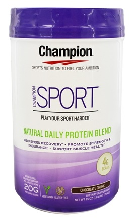 DROPPED: Champion Naturals - Sport Natural Daily Protein Blend Chocolate Chunk - 25 oz.