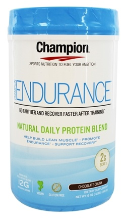 DROPPED: Champion Naturals - Endurance Natural Daily Protein Blend Chocolate Chunk - 16 oz.