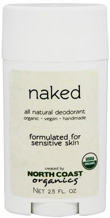 North Coast Organics - All Natural Deodorant Naked - 2.5 oz.