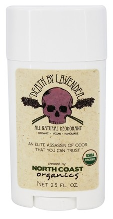 North Coast Organics - All Natural Deodorant Death by Lavender - 2.5 oz.