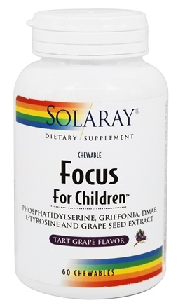 Solaray - Focus For Children Tart Grape Flavor - 60 Chewables