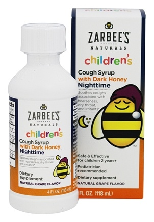Zarbee's - Children's Cough Syrup Nighttime Natural Grape Flavor - 4 oz.