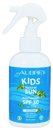 DROPPED: Aubrey Organics - Natural Sun for Kids Spray 30 SPF - 6 oz.
