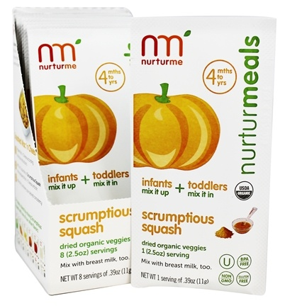 DROPPED: Nurturme - Organic Dried Veggies 4+ Months Scrumptious Squash - 0.39 oz. LUCKY PRICE