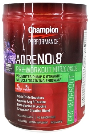 DROPPED: Champion Performance - AdreNOL8 Pre-Workout Nitric Oxide Powder Grape - 1.8 lbs.