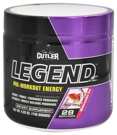 Cutler Nutrition - Legend JC Pre-Workout Energy Watermelon Ice 28 Servings - 4.93 oz.