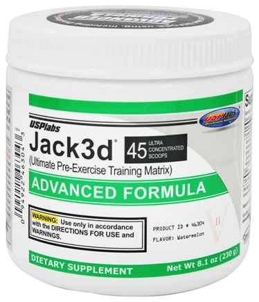 USP Labs - Jack3d Advanced Formula Watermelon 45 Servings - 218 Grams