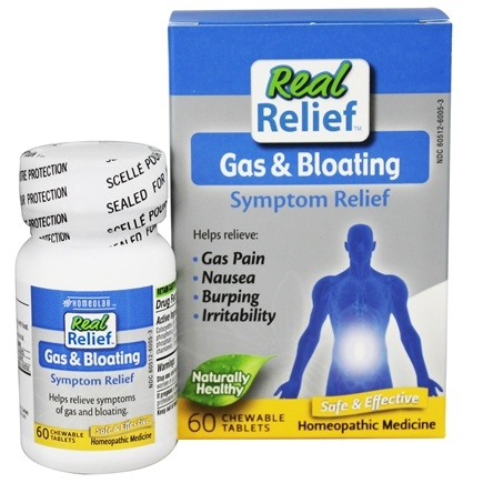 Homeolab USA - Real Relief Gas & Bloating - 60 Chewable Tablets