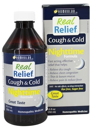 DROPPED: Homeolab USA - Real Relief Cough & Cold Nighttime Formula - 8.5 oz.