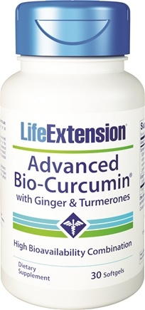 Life Extension - Advanced Bio-Curcumin with Ginger & Turmerones - 30 Softgels