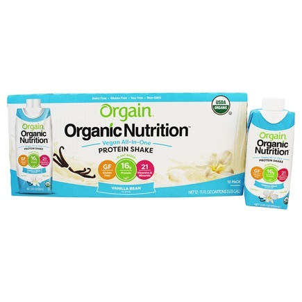 Orgain - Vegan Ready To Drink High Protein Nutritional Shake Sweet Vanilla Bean - 12 Pack /LUCKY PRICE