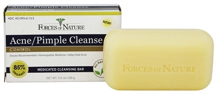 Forces of Nature - Acne/Pimple Cleanse Medicated Cleansing Bar - 3.5 oz.