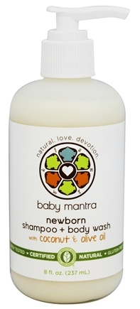 Baby Mantra - Newborn Shampoo + Body Wash with Coconut & Olive Oil - 8 oz.