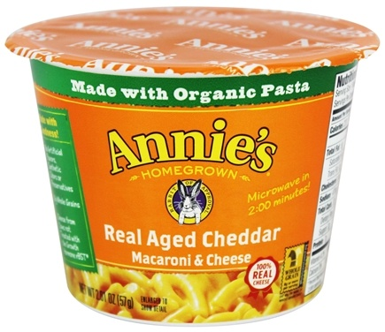 Annie's Homegrown - Organic Macaroni & Cheese Real Aged Cheddar - 2.01 oz.