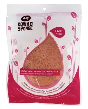 My Konjac Sponge - All Natural Konjac Face Sponge with Added French Pink Clay