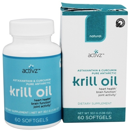 DROPPED: Activz - Natural Pure Antarctic Krill Oil - 60 Softgels
