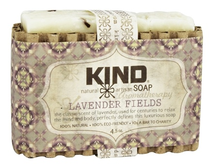 Kind Soap Co. - Artisan Aromatherapy Bar Soap Lavender Fields - 4.5 oz.