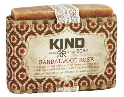 Kind Soap Co. - Artisan Aromatherapy Bar Soap Sandalwood Rose - 4.5 oz.