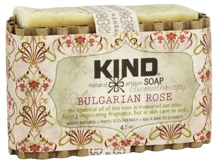 DROPPED: Kind Soap Co. - Artisan Aromatherapy Bar Soap Bulgarian Rose - 4.5 oz.