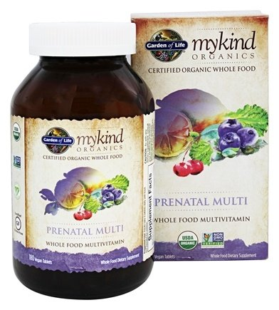 Garden of Life - Kind Organics Prenatal Multi Whole Food Multivitamin - 180 Vegetarian Tablets
