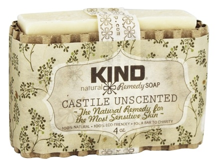 Kind Soap Co. - Natural Remedy Bar Soap Castile Unscented - 4 oz.