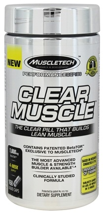 Muscletech Products - Clear Muscle Performance Series - 168 Liquid Capsules