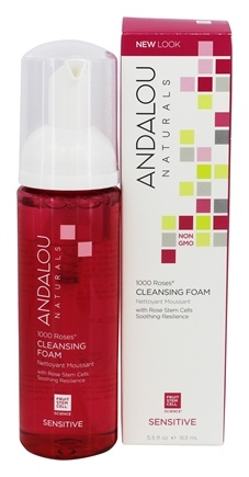 Andalou Naturals - Sensitive 1000 Roses Cleansign Foam - 5.5 oz.