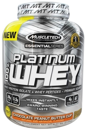 DROPPED: Muscletech Products - Platinum Essential Series 100% Whey Chocolate Peanut Butter Cup - 5.03 lbs.